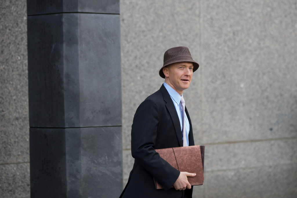 Former Trump campaign foreign policy adviser Carter Page