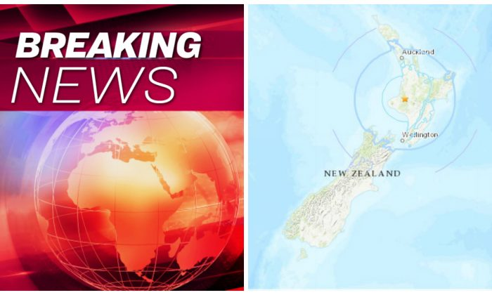Location of 6.0 Earthquake in the North Islands of New Zealand. (United States Geological Survey)