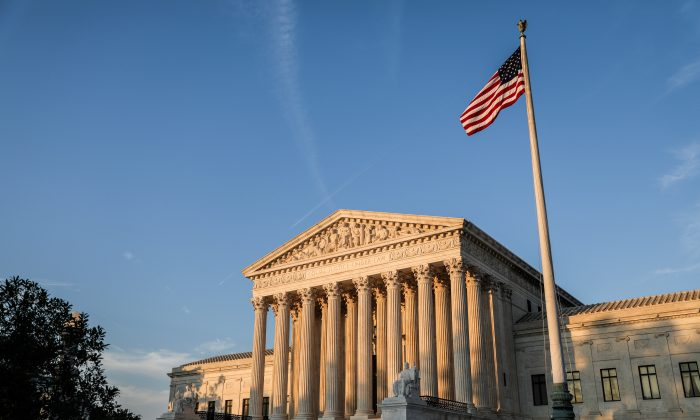 U.S. Supreme Court building. (Charlotte Cuthbertson/The Epoch Times)