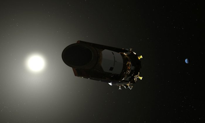 An artist's conception of the Kepler Space telescope is shown in this illustration provided on Oct. 30, 2018.  (NASA/Handout via Reuters)