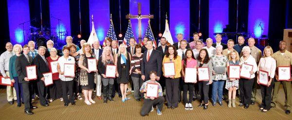 California Senator Joel Anderson held his last California Heroes Month