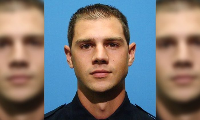 Baltimore Police Officer Kevin Battipaglia was charged with destroying property in the Northeast District police station, on Oct. 28, 2018. (Baltimore Police Department)