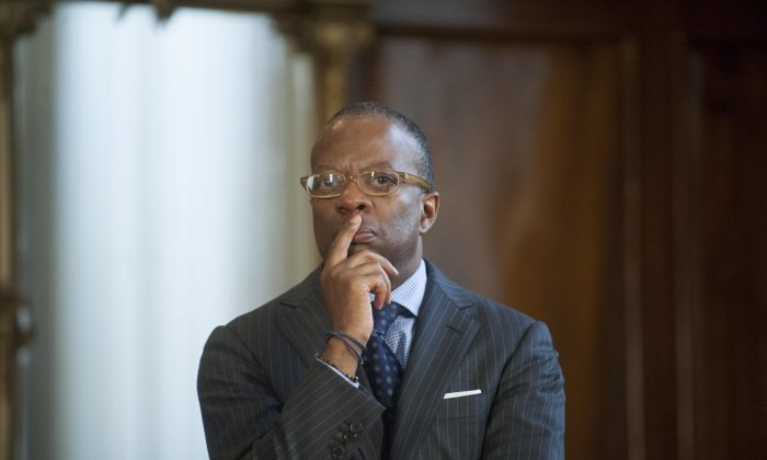U.S. Ambassador to Guatemala Todd Robinson at the presidential residence in Guatemala City on June 2, 2015. As an Obama associate, Robertson is working against President Trump's immigration policies in Central America.  (JOHAN ORDONEZ/AFP/Getty Images)