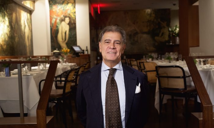 Gianfranco Sorrentino at his restaurant THE LEOPARD at des Artistes on Oct. 16, 2018. (Shenghua Sung/The Epoch Times)