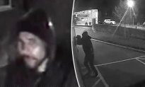 CCTV Shows Thief Breaking Into Ambulance While Paramedics Treat Patient