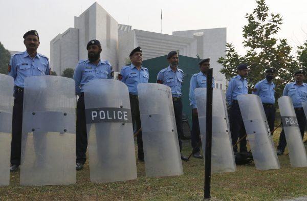 Pakistani police officers supreme court