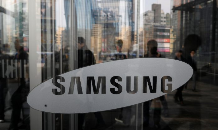 The logo of Samsung Electronics is seen at its office building in Seoul, South Korea, March 23, 2018.   (Kim Hong-Ji/Reuters)