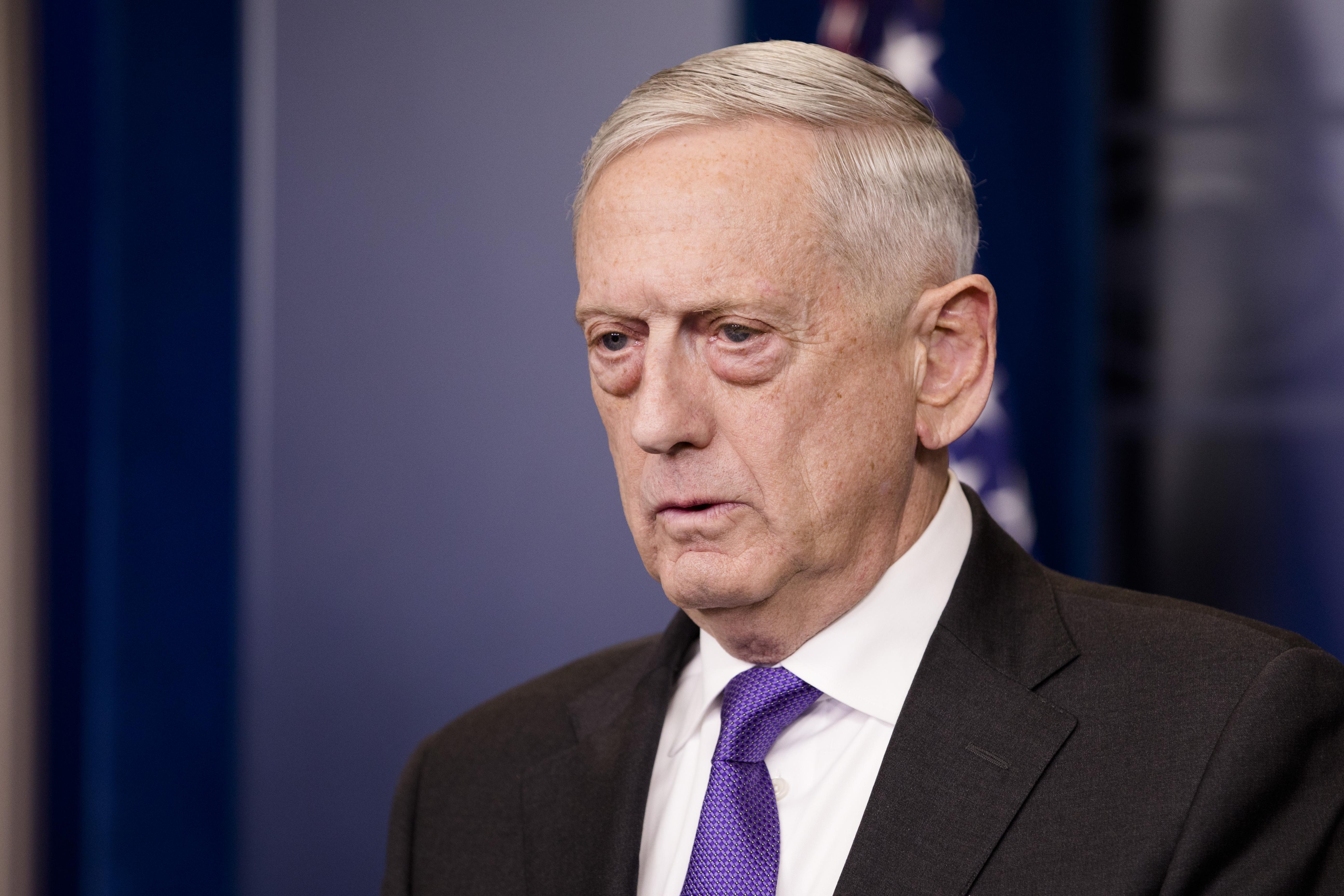 Secretary of Defense Jim Mattis at the White House