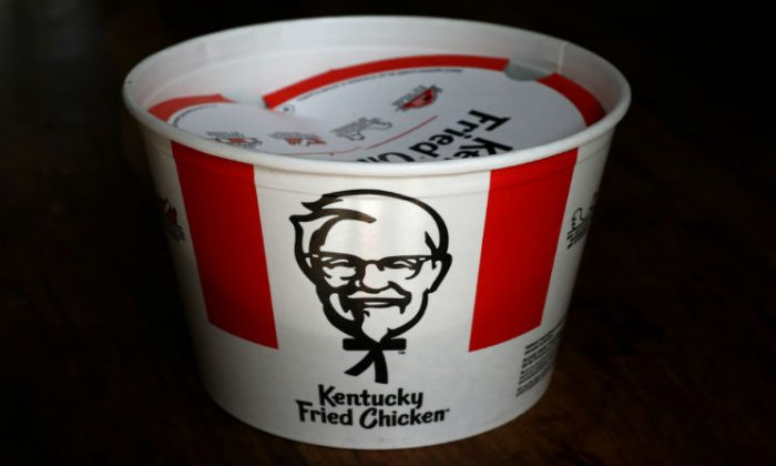 A Kentucky Fried Chicken (KFC) bucket of fried chicken is seen in this picture illustration taken April 6, 2017. (Carlo Allegri/Reuters)