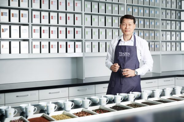 Tea Master Anthony Kim stands in TEAZEN research laboratory