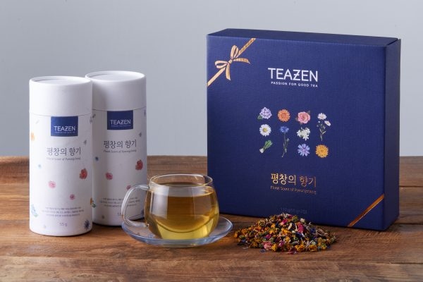 The Floral Scent of Pyeongchang tea set from TEAZEN