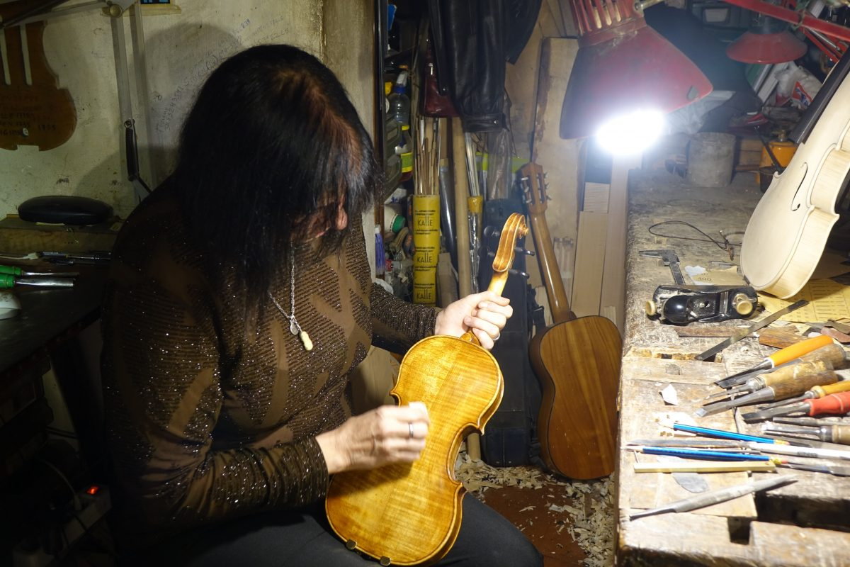 Traditional violin maker florence