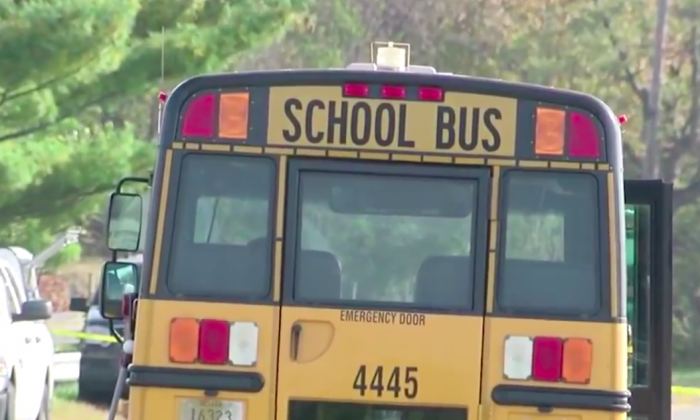 A Buffalo, New York, man said a sixth grader left a note on his car after it was hit by a school bus, according to reports. (Screenshot/AP)