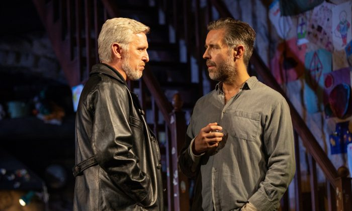 "IRA representative Muldoon (Stuart Graham) visits  Quinn Carney (Paddy  Considine) to see how the Carneys are taking the news that the body of Seamus Carney has been found, in the riveting drama ""The Ferryman."" (Joan Marcus)"