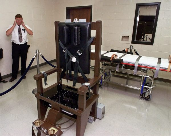 electric chair at a prison