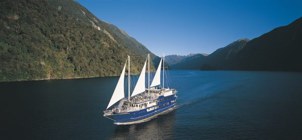 Real Journeys offers overnight cruises on Doubtful Sound and Milford Sound in Fiordland National Park.