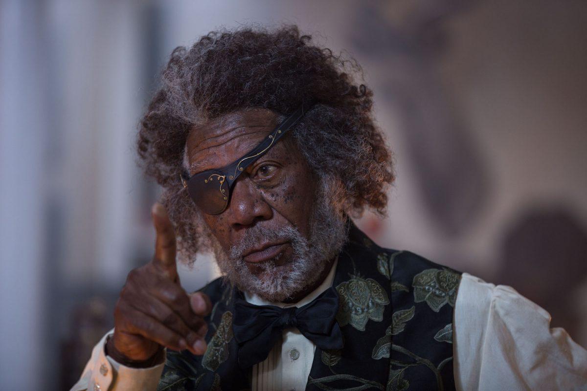 Morgan Freeman with eyepatch