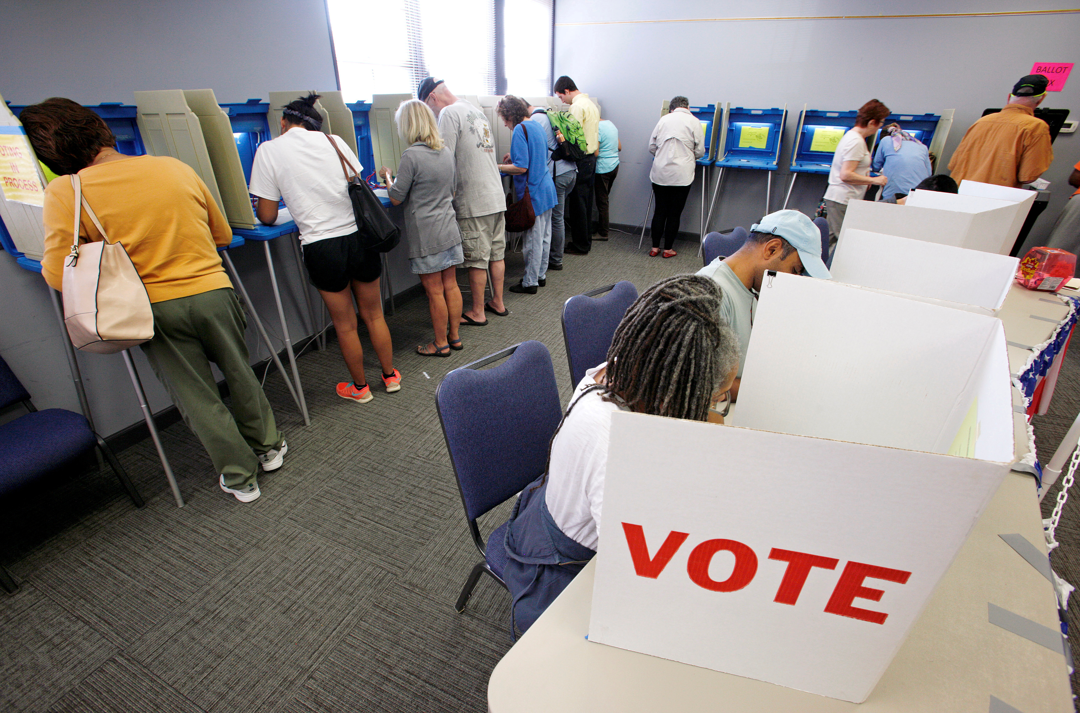 People cast their ballots