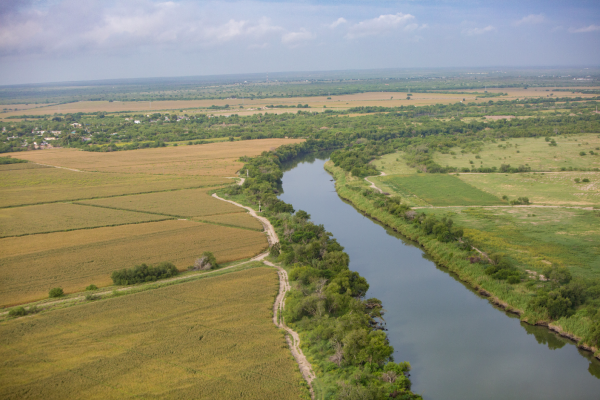 An aerial view of the Rio Grande.