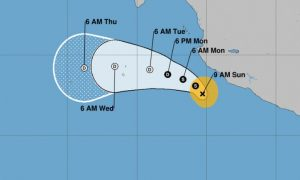 Tropical Storm Xavier Forms in Eastern Pacific