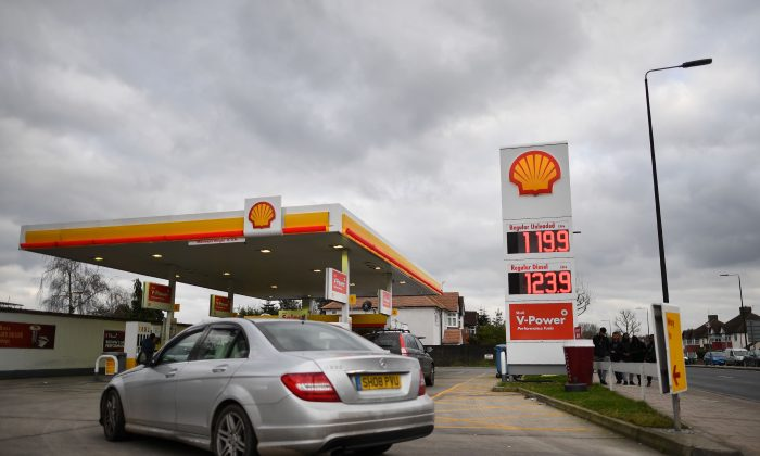 A fuel station in London on Jan. 30, 2018. (Ben Stansall/AFP/Getty Images)