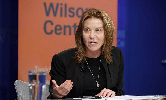 Google Vice President of Public Policy Susan Molinari participates in a discussion on 'Zika in the U.S.: Can We Manage the Risk?' at the Woodrow Wilson Center May 24, 2016 in Washington, DC. (Chip Somodevilla/Getty Images)