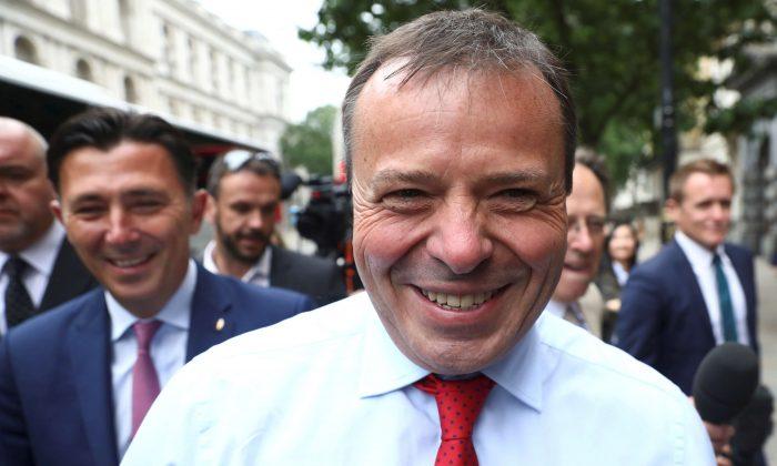 Arron Banks, who ran the Leave.Eu pro-Brexit referendum campaign, in London on June 12, 2018. (Reuters/Simon Dawson/File Photo)