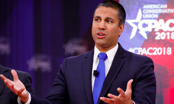 Chairman of the Federal Communications Commission Ajit Pai at the Conservative Political Action Conference at National Harbor, Md., on Feb. 23, 2018. (Reuters/Joshua Roberts)