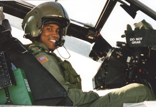 Republican Senate candidate in Michigan John James during his military service