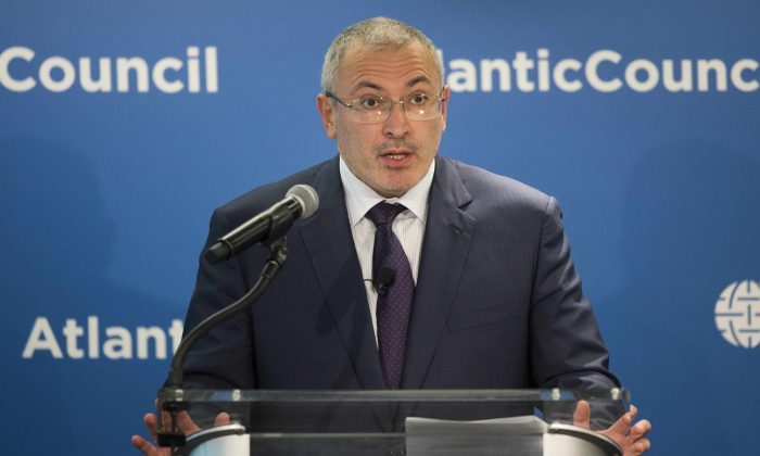 Mikhail Khodorkovsky at the Atlantic Council in Washington, DC, on June 17, 2015. (Jim Watson/AFP/Getty Images)