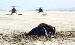 NASA Posts Photo of Crashed 'Flying Saucer'