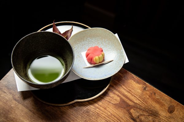 Nerikiri with matcha kaiseki course at Suzuki