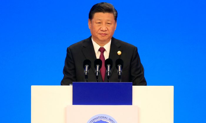Chinese leader Xi Jinping attends the opening ceremony for the first China International Import Expo (CIIE) in Shanghai, China on Nov. 5, 2018. (Aly Song/Reuters)