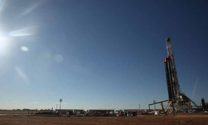 A fracking site situated on the outskirts of the oil town of Midland, Texas, in January 2016. The controversial fossil fuel extraction technique is a result of American ingenuity at at time when the United States was facing an energy crisis, and has lead to greater energy independence. (Spencer Platt/Getty Images)