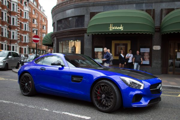 Mercedes supercar outside Harrods