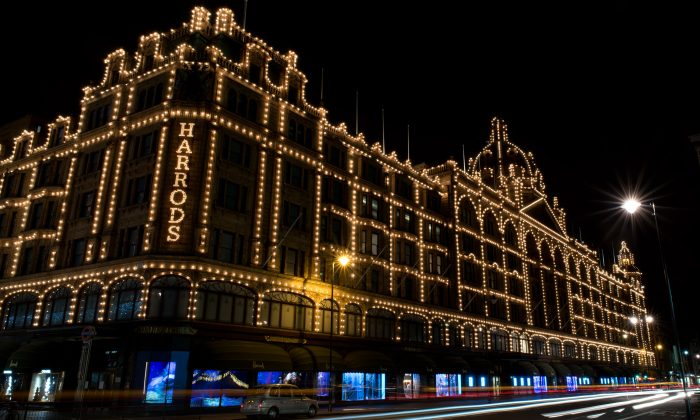 A general view of Christmas decorations on Harrods on Dec. 23, 2014 in London.  (Ben A. Pruchnie/Getty Images)