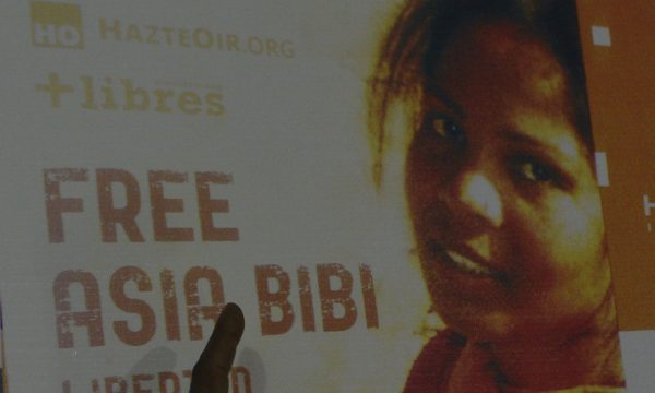 A poster of Asia Bibi