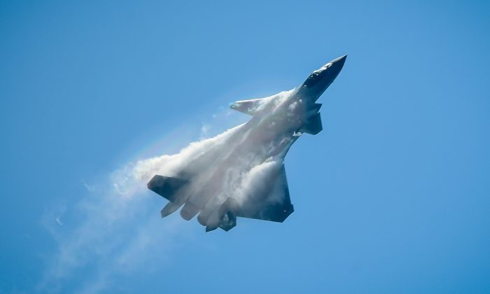 A Chinese J-20 stealth fighter performs at the Airshow China 2018 in Zhuhai in southern China's Guangdong province on November 6, 2018. (WANG ZHAO/AFP/Getty Images)