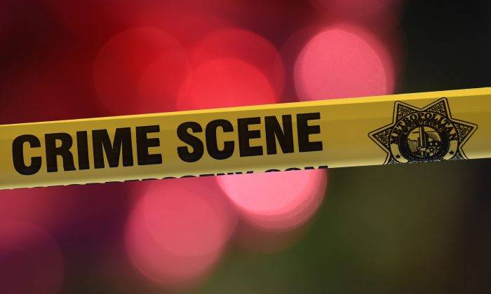 stock photo of police tape. (Mark Ralston/AFP/Getty Images)