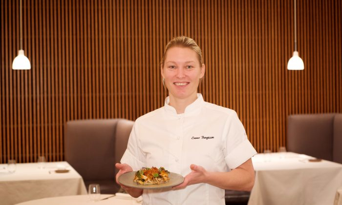 Chef Emma Bengtsson has earned two Michelin stars as executive chef of Aquavit in Midtown. (Shenghua Sung)