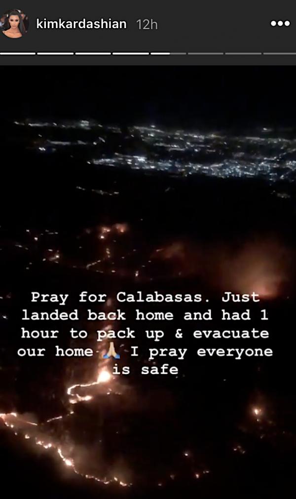 Kim Kardashian shared a video