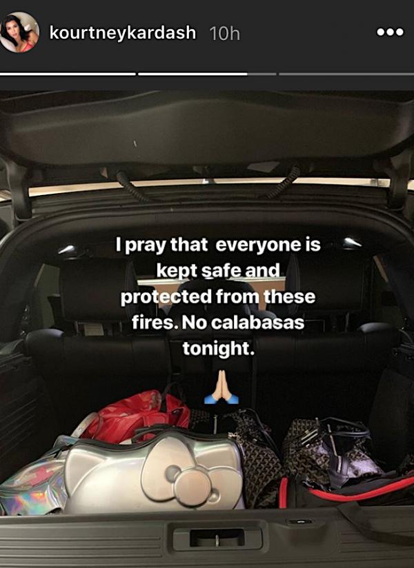 Kourtney Kardashian shared a photo