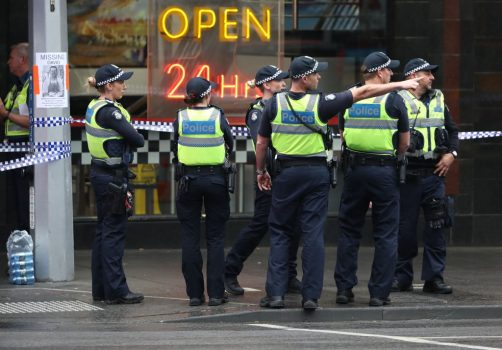 police at the Melbourne terror attack
