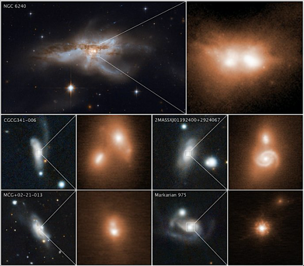 pairs of galaxies are merging together again