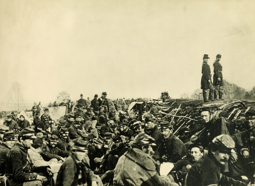 Union soldiers in trenches before the Battle of Petersburg, Virginia, on June 9, 1864. (Shutterstock)