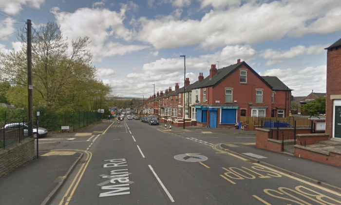 The location of an accident on Main Road that killed 4 people in the city of Sheffield, England, on Nov. 9, 2018. (Screenshot/Googlemaps)
