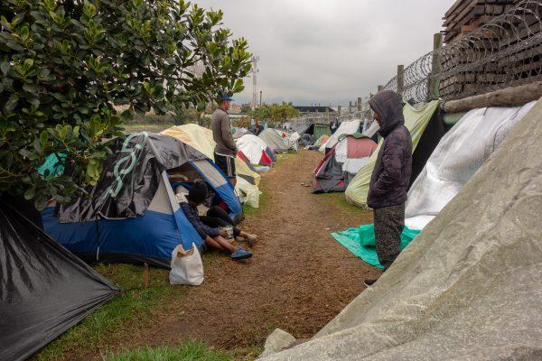 Venezuelan migrants in a refugee camp near Bogota, Colombia.