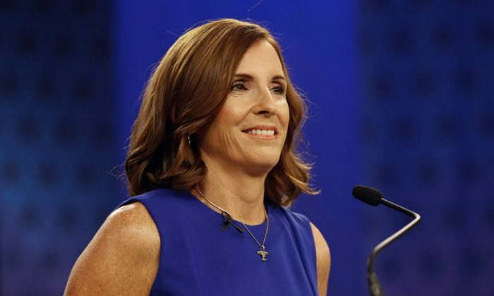 Rep. Martha McSally, (R-Ariz.) at a debate in Phoenix, Arizona, on Oct. 15, 2018. (AP Photo/Matt York)