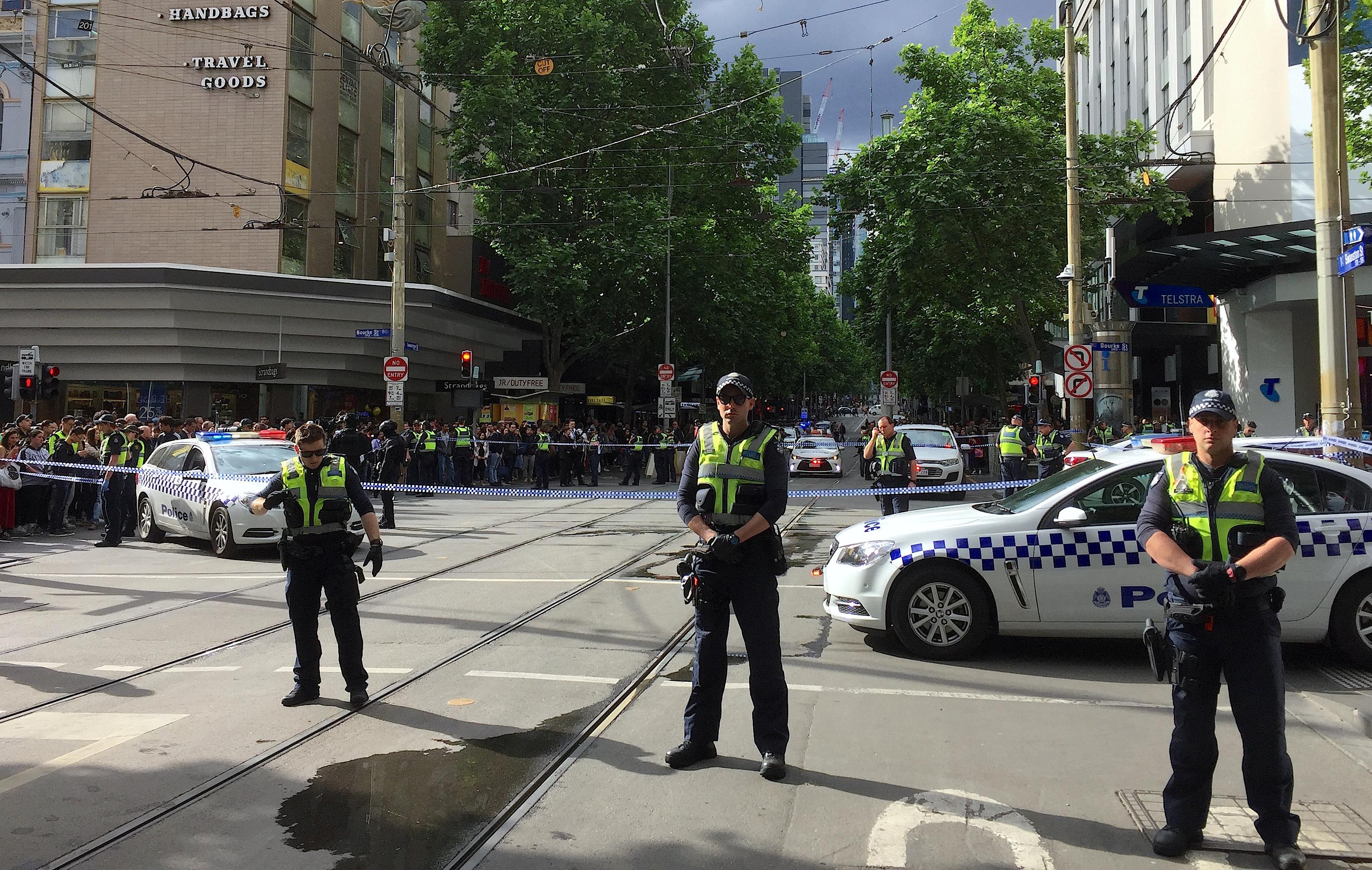 Policemen in central Melbourne
