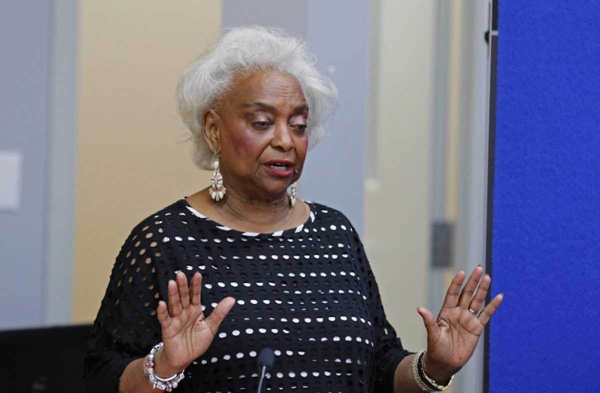 Brenda Snipes, Broward County Supervisor of Elections, during a canvassing board meeting in Lauderhill